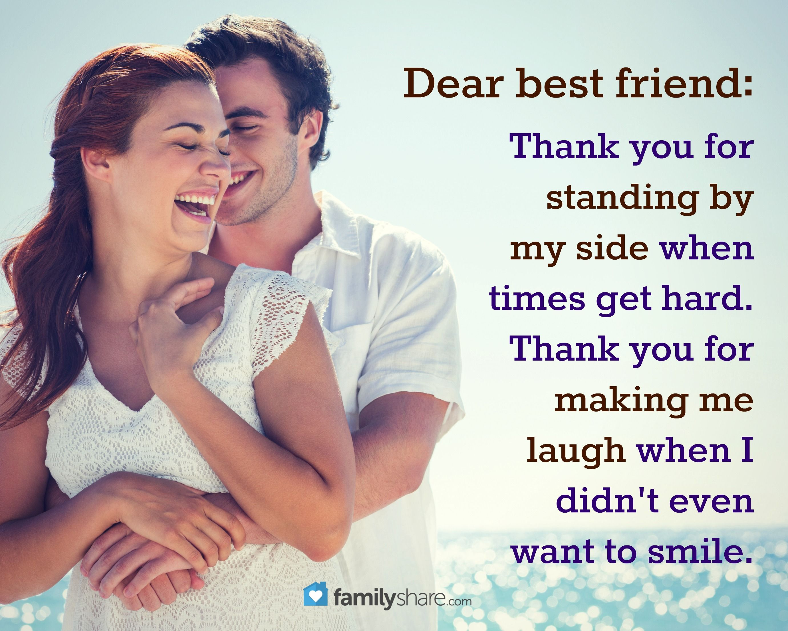 Dear Best Friendthank You For Standing By My Side When Times Get