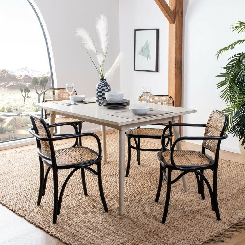 Cane Arm Chair Joss Main In 2020 Cane Dining Chairs Dining Chairs Solid Wood Dining Chairs