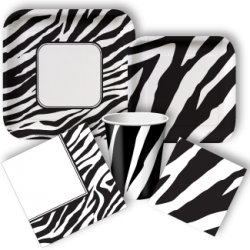 Zebra Party Standard Party Packs, Zebra Party Supplies