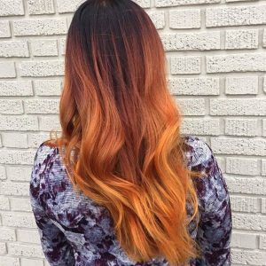 Orange Balayage Hair Color