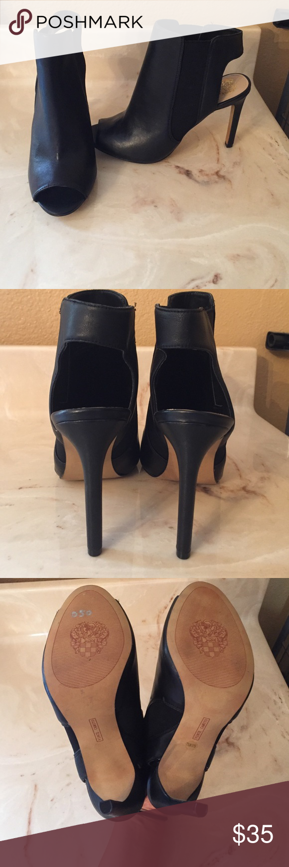 Vince Camuto Heels Only worn once because they fit big. 10/10 no box Vince Camuto Shoes Heeled Boots
