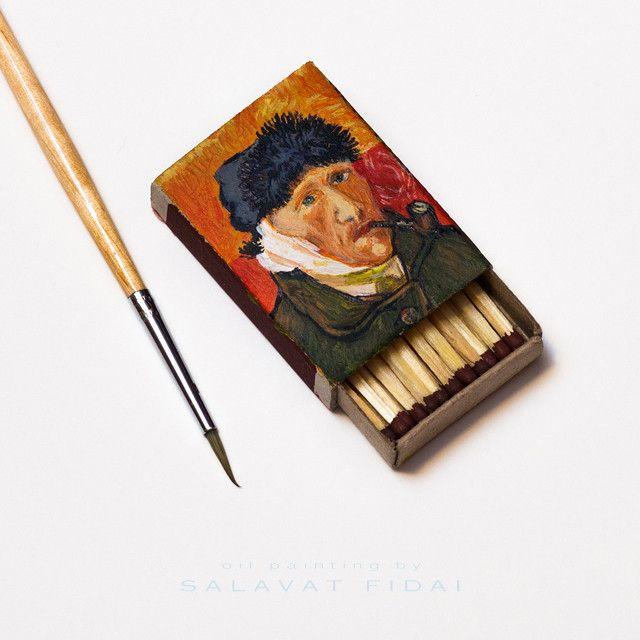 Van Gogh Paintings On Matchboxes By Salavat Fidai