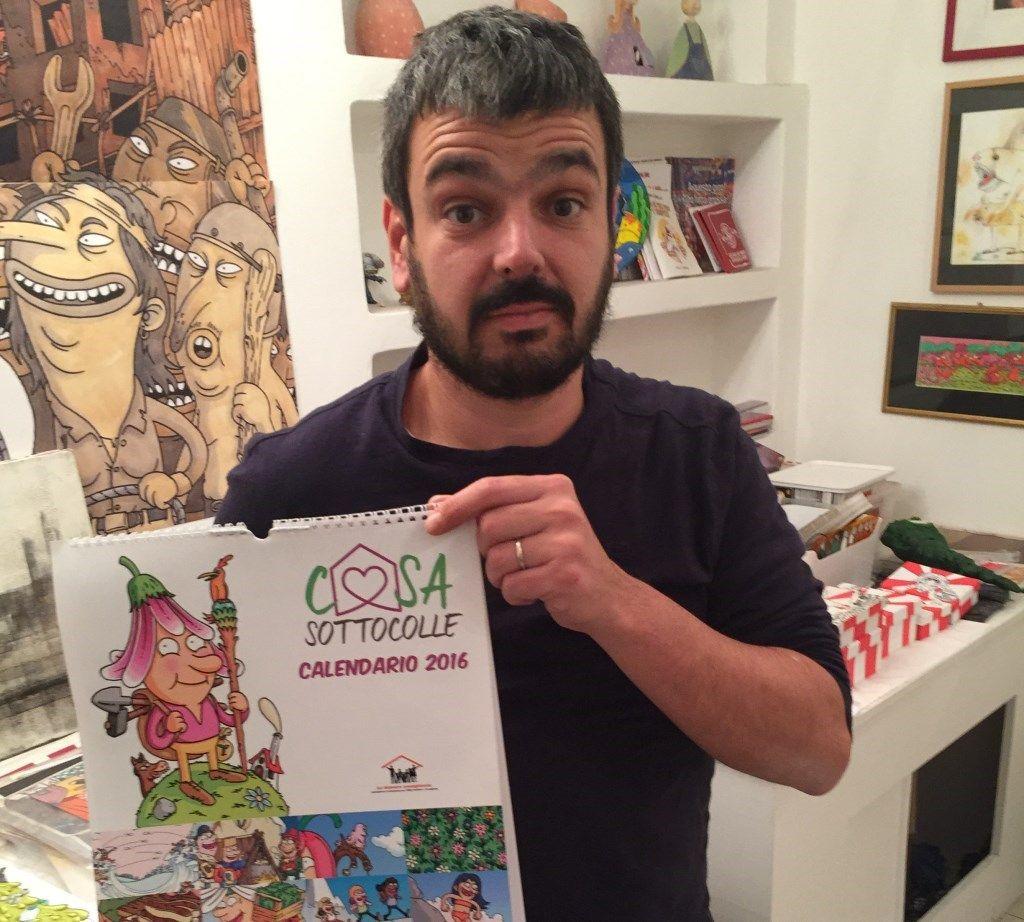 """Enrico Macchiavello disegna per i bambini: un evento a sostegno del progetto """"Casa Sottocolle"""""""