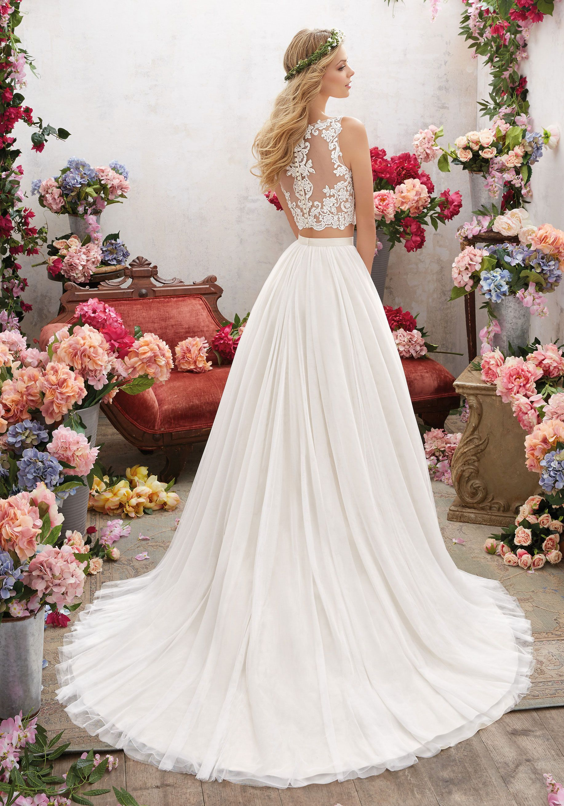 Designer wedding dresses and bridal gowns by morilee this twopiece