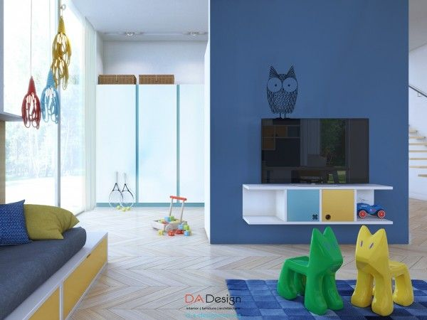 Details Like An Adorable Owl Decal Certainly Make This A Kids - Colorful kids room designs with plenty of storage space