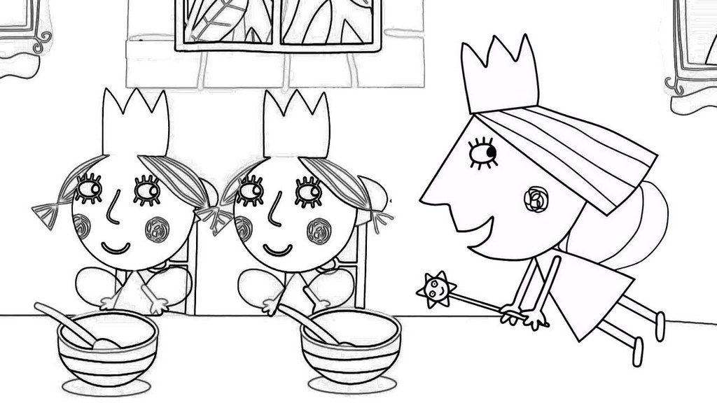 Pin By Haykanush On Kids Crafts Coloring Pages Coloring Pages For Kids Ben And Holly