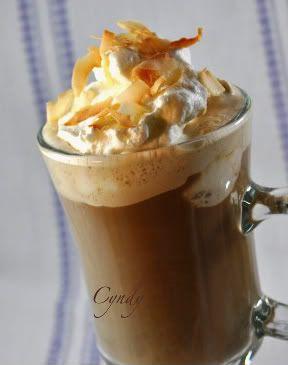 Affogato - Espresso, vanilla ice cream and candied orange peel.  My favorite espresso drink... screw Starbucks!