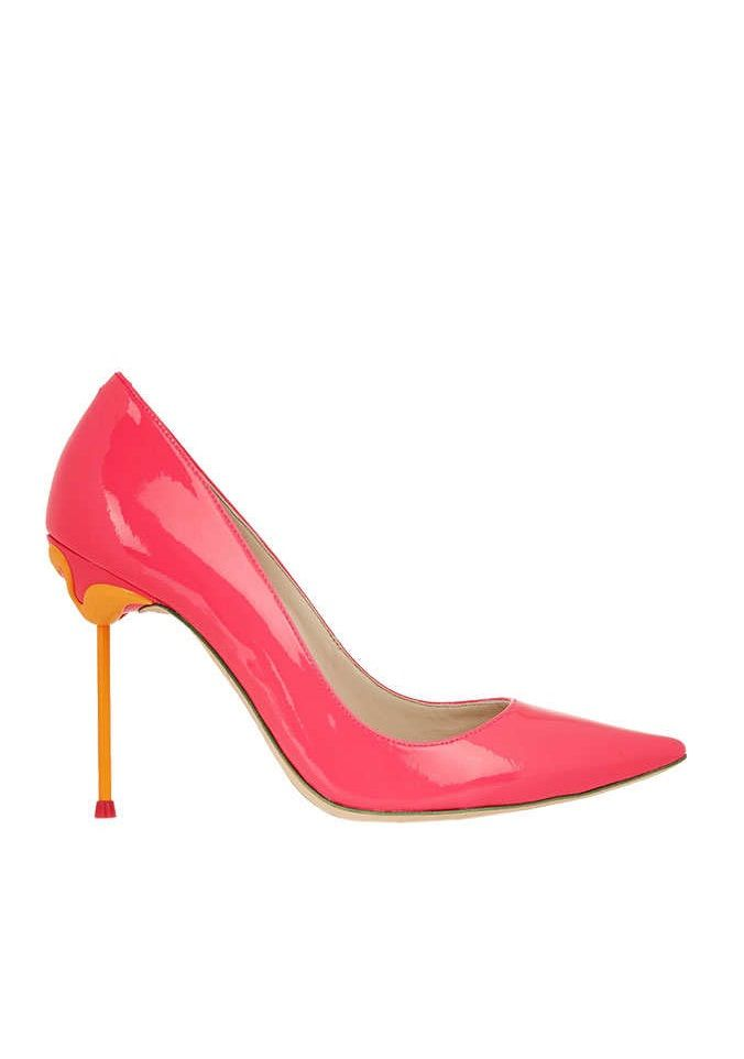 """Sophia Webster Coco Neon Patent-leather Pumps, $495 at Net-A-Porter. Nothing says """"I've never chased down a cab in my life"""" like spectacular heels."""