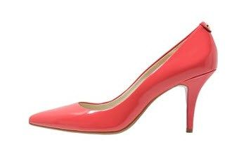 red leather court shoe