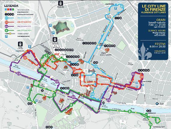 Plan De La Ville De Pise Transport En Commun