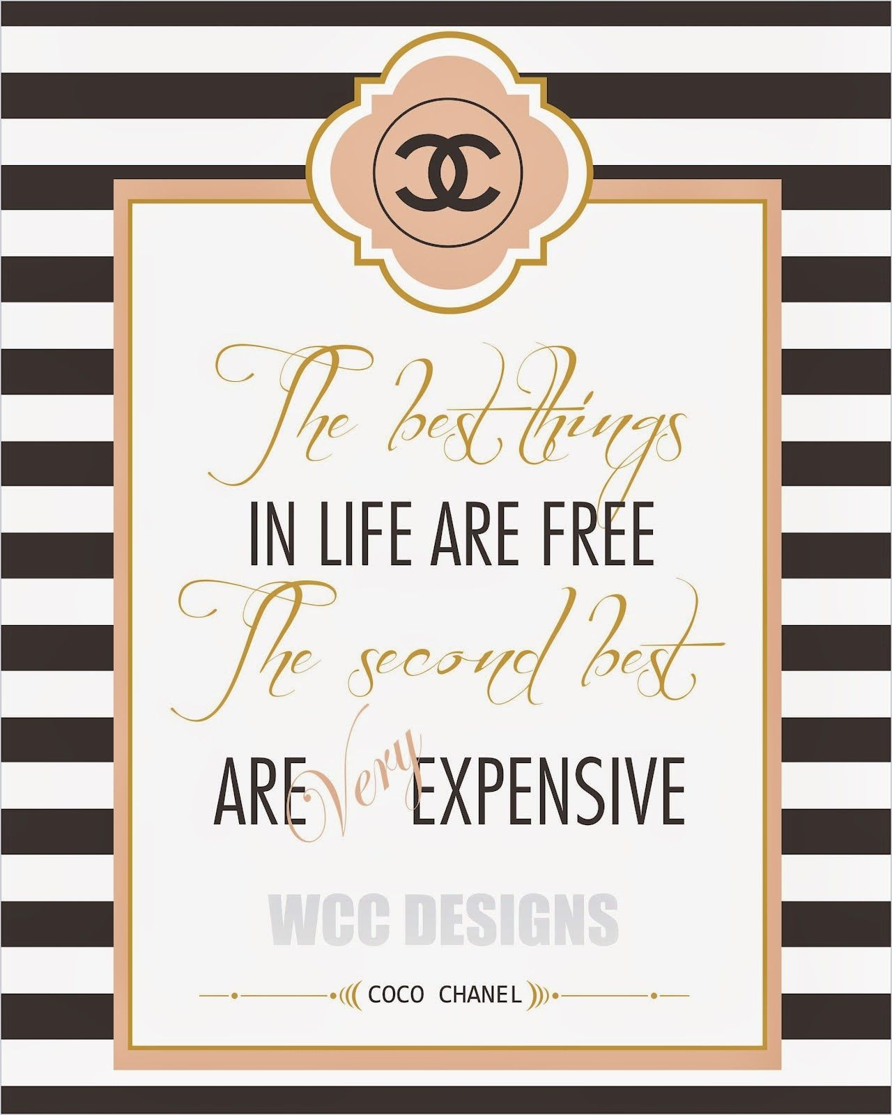 Chanel 18th birthday ideas Pinterest Craft Free printables