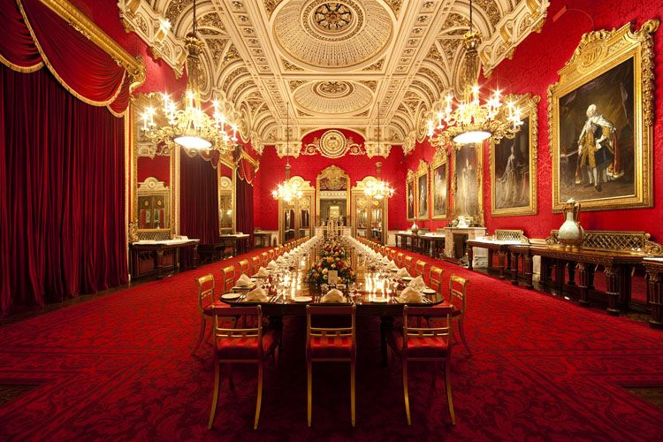 buckingham palace state dining room - google search | buckingham