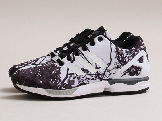 Adidas Womens ZX Flux Photo Print Trees Available running shoes 2015