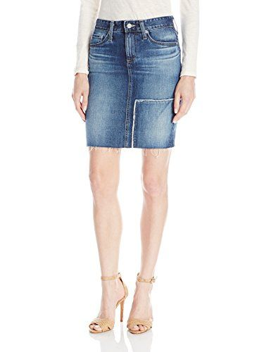 0e0b5372bd AG Adriano Goldschmied Womens Erin Reconstructed Pencil Skirt 4 Years  Riptide 28 >>> Visit the image link more details.