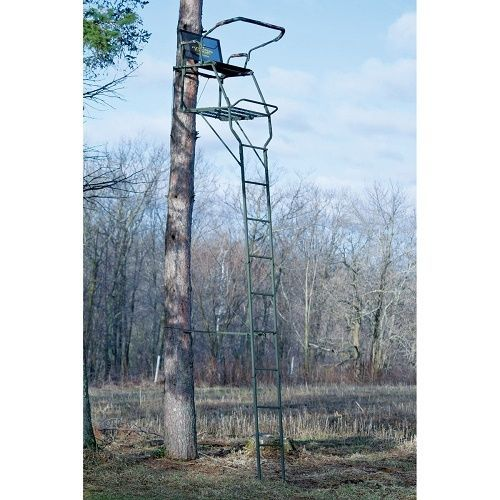 Hunting Tree Stand Rivers Edge 17' Jumbo Jack Ladder Stand Extra Wide Seat #RiversEdge