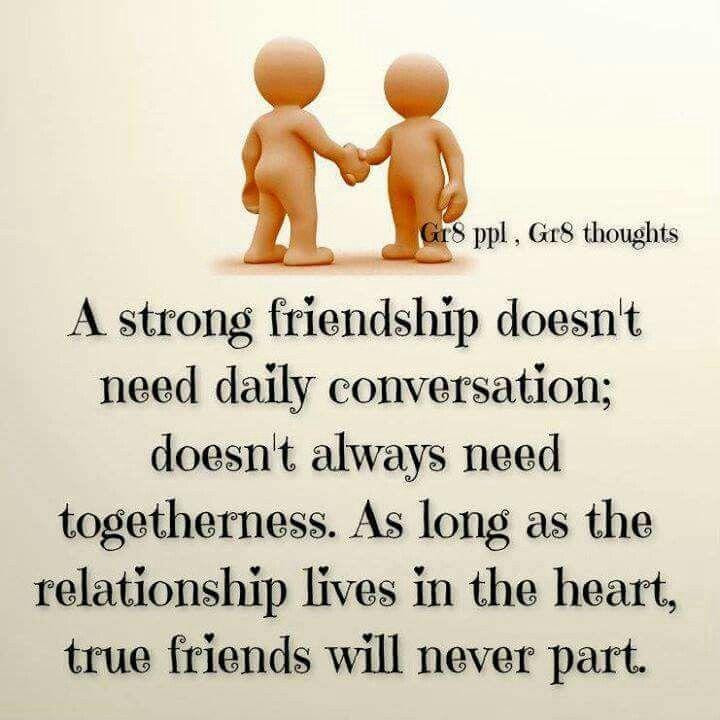 A Strong Friendship ...