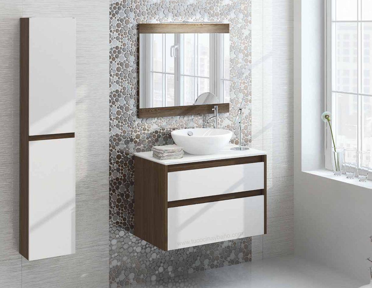 Mueble ba o blanco madera tu cocina y ba o muebles for Bano blanco y madera