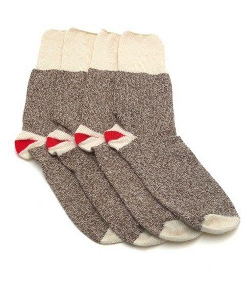 Kids Brown Original Rockford Red Heel Socks