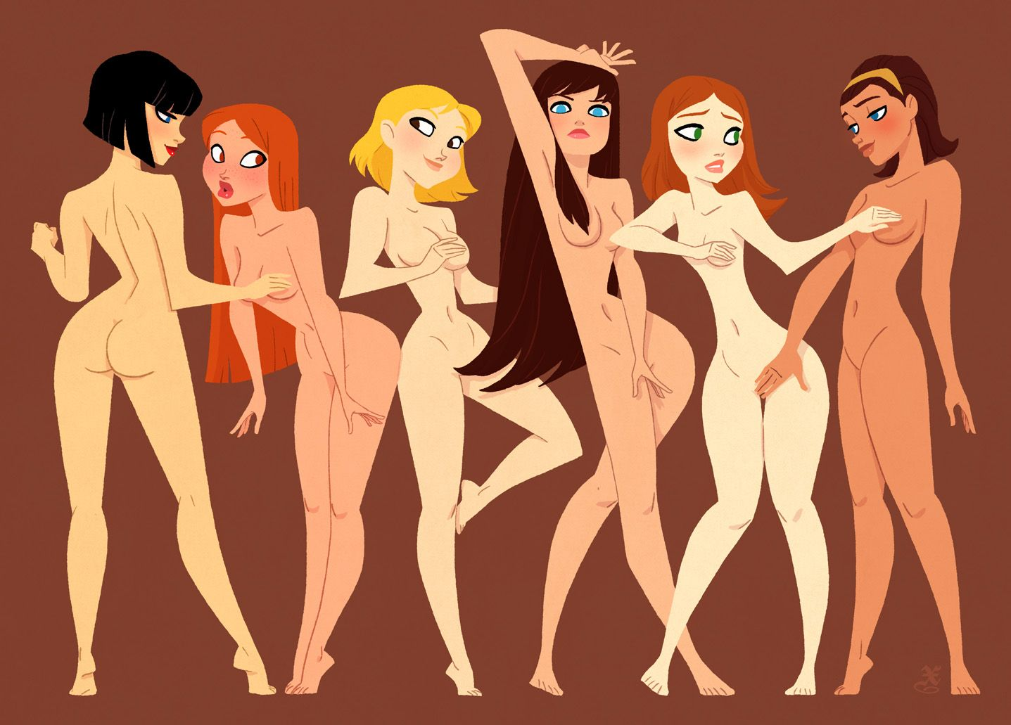 catoon girls naked