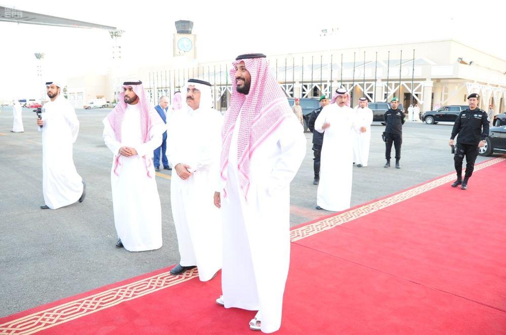 صحيفة مكة :: ولي ولي العهد يودع محمد بن زايد