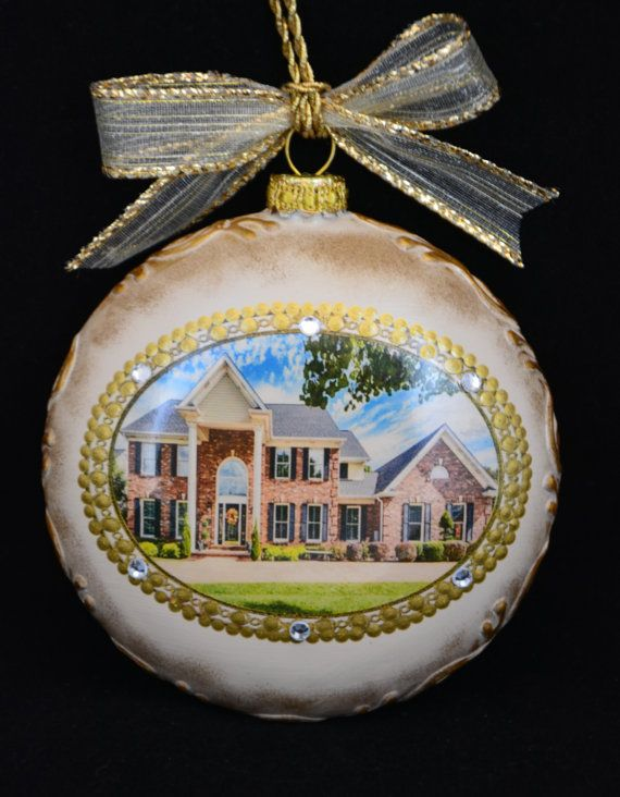 New Home Ornament, Personalized Christmas Ornament,Photo Ornament