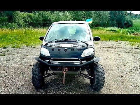 1 Smart Fortwo Offroad Crazy Car Youtube Smart Car Smart