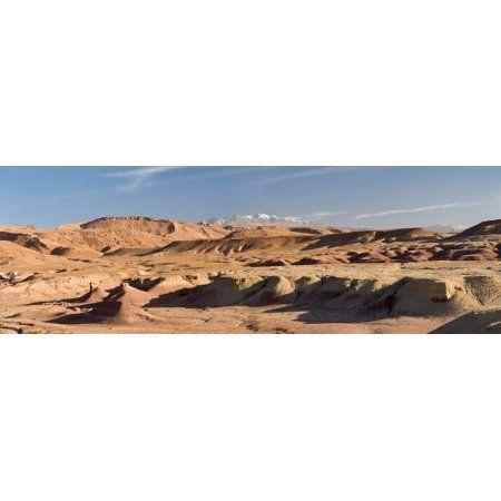Landscape Kasbah Ait Benhaddou Morocco Canvas Art - Panoramic Images (36 x 12)