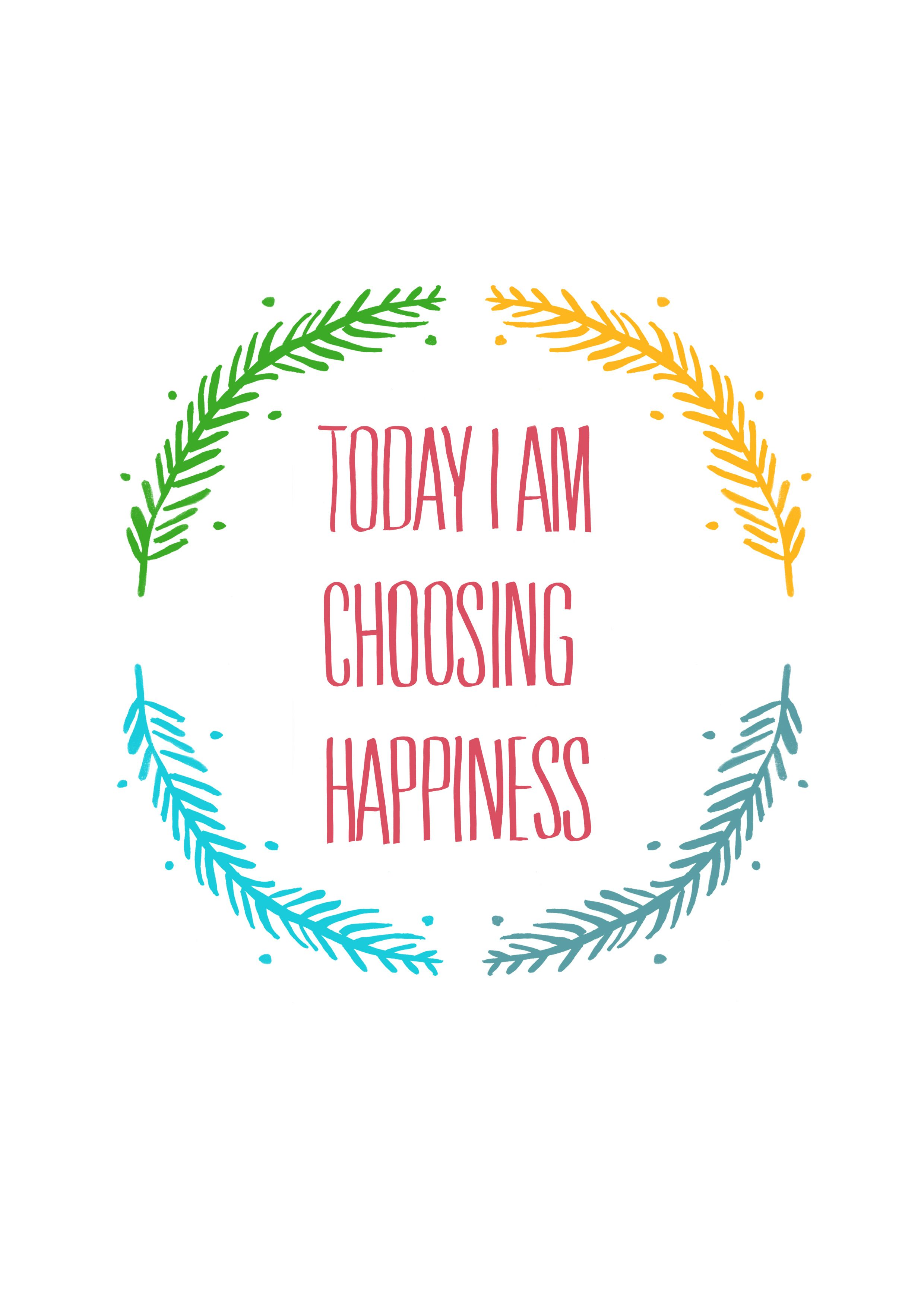 today i am choosing happiness! #typography #typo #design #quote ...