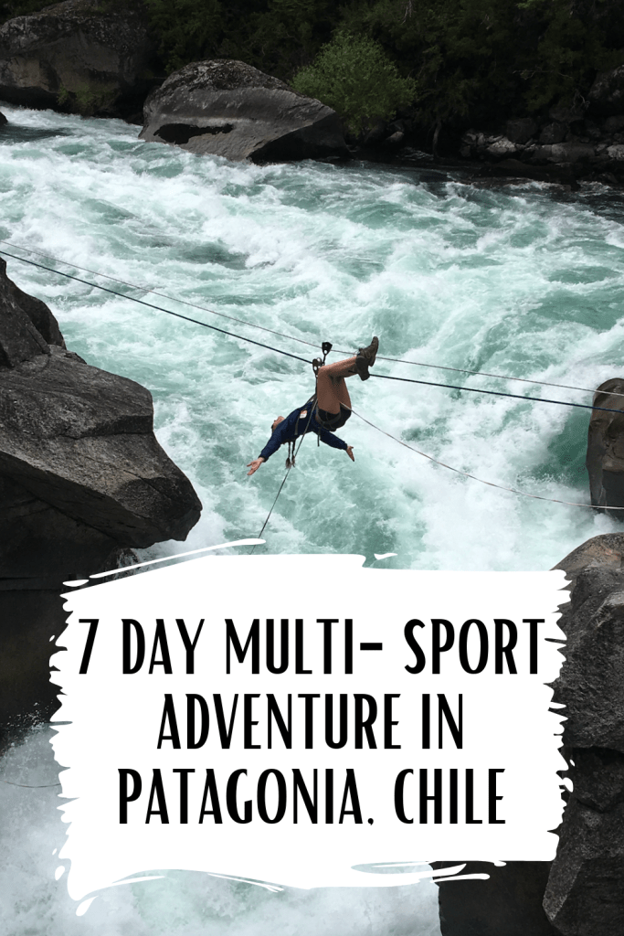 A 7 day multi-sport itinerary on the Futaleufu river in Patagonia, Chile. Includes rafting, trekking, zip lining, rock climbing, rappelling and lots of hot tubs! #southamericatravel #adventuretravel #whitewaterrafting