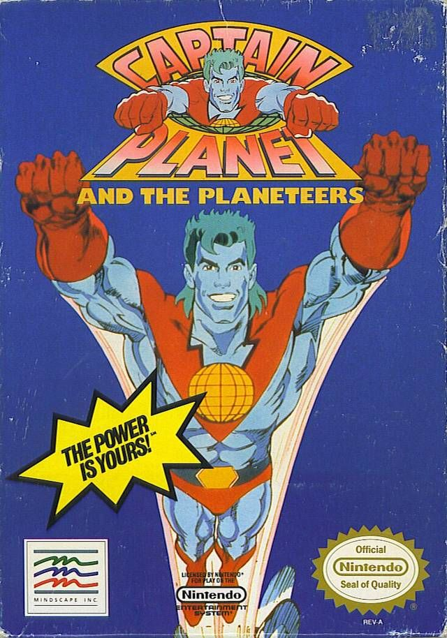 Captain Planet the Nintendo game was about as bad as the TV show and his green mullet.