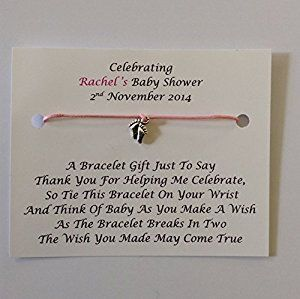 10 x personalised baby shower wish bracelets favours gifts amazon