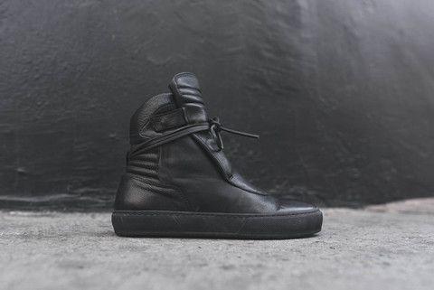 Ylati Giove High Nero All Black Sneakers Chukka Boots Shoes