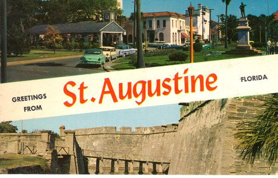 Greetings From St Augustine Florida  Vintage Postcards by @theheritageohio, $2.75