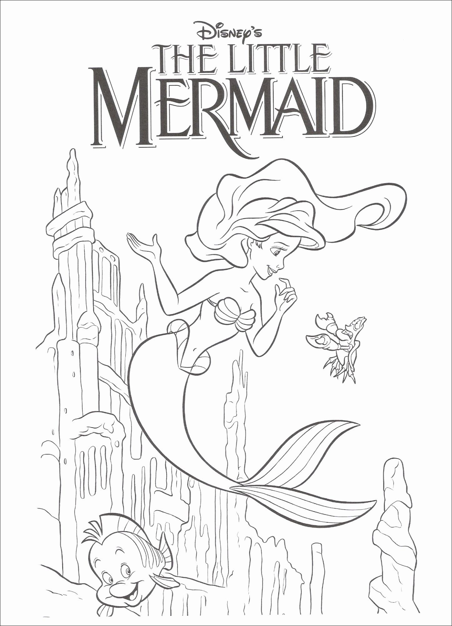 The Little Mermaid Coloring Page Luxury Coloring Pages Free Little Mermaid Coloring N Mermaid Coloring Pages Mermaid Coloring Book Coloring Pages Inspirational