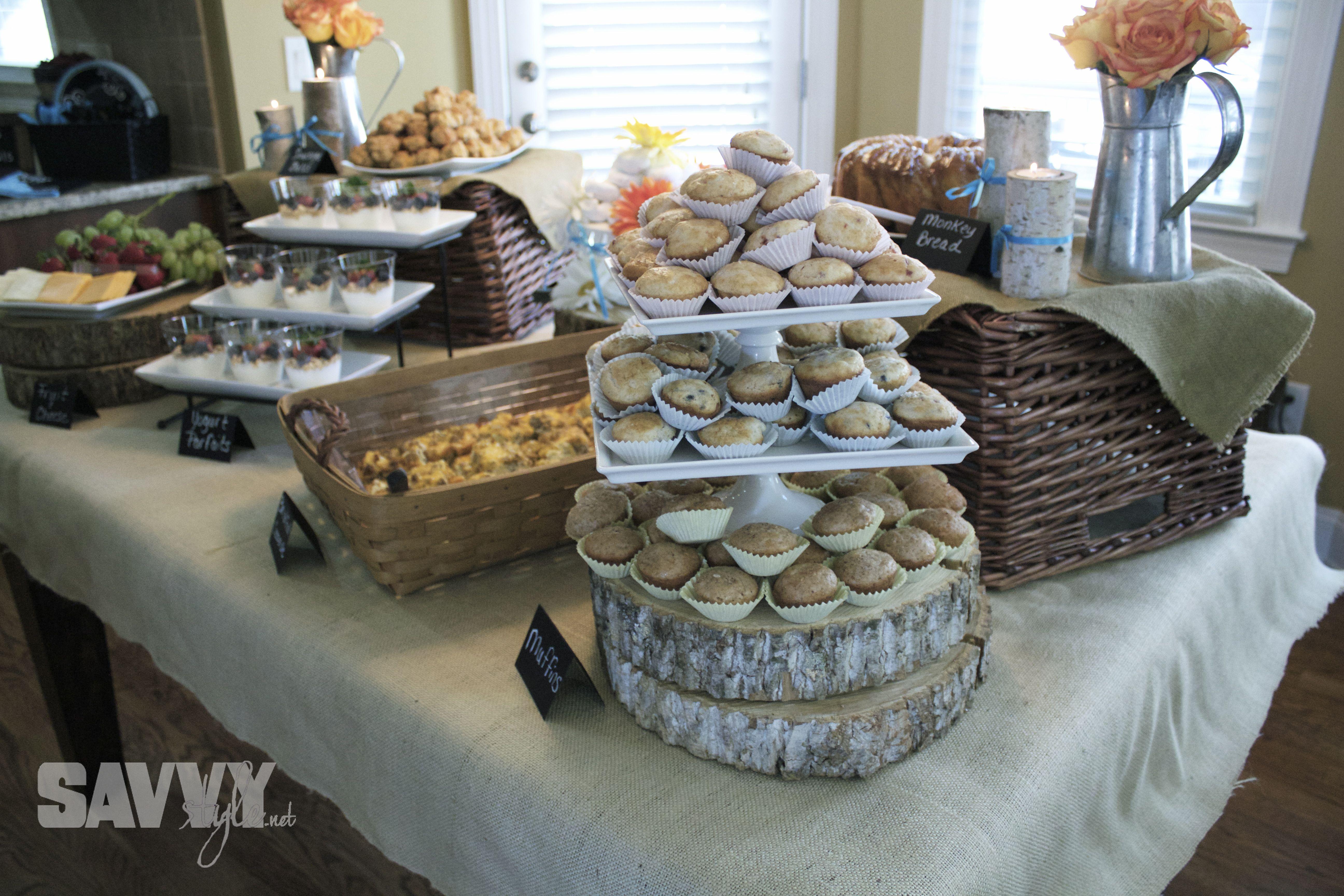 Rustic Bridal Shower Brunch Food Display Savvystyle 2013 04 21