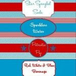 4th of July Drink Labels