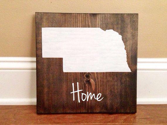 Nebraska Home Sign Nebraska State Sign State Wall Art Etsy Wood Signs State Wall Art Nebraska
