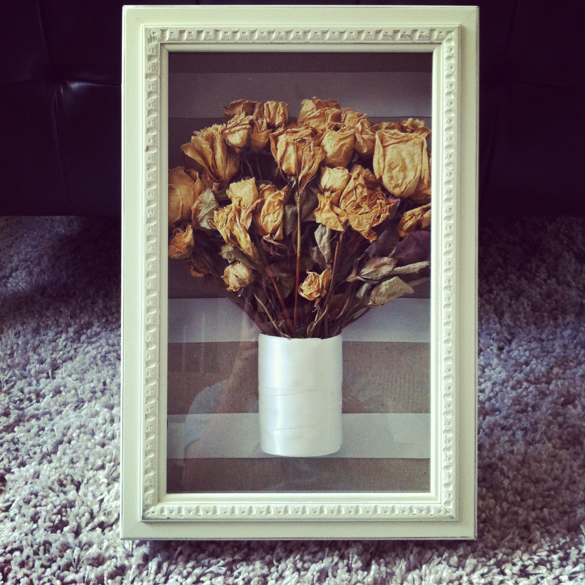 Shadow box for wedding bouquet. $14.99 at Marshall's ...