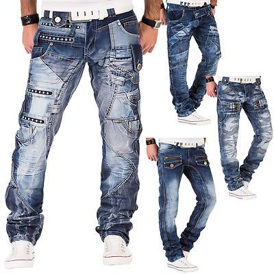 Cipo /& Baxx Uomo Straight Leg Jeans blu