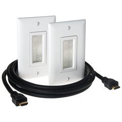 On Q Legrand Hdmi In Wall Connection Kit 00804428030188 The Hdmi In Wall Connection Kit Helps Conceal Low Voltage Ca Hide Cables Wall Jack Home Theater Installation