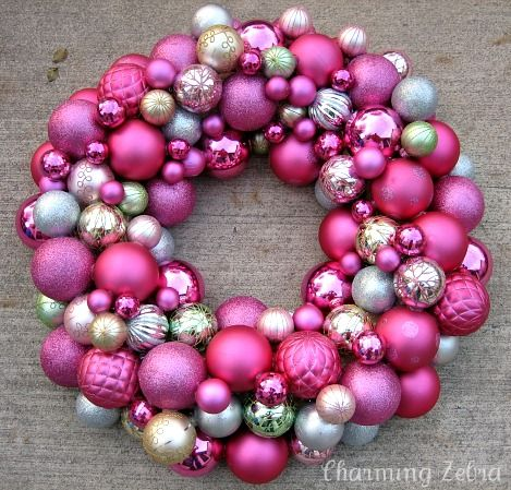 Ornament wreath... so beautiful!