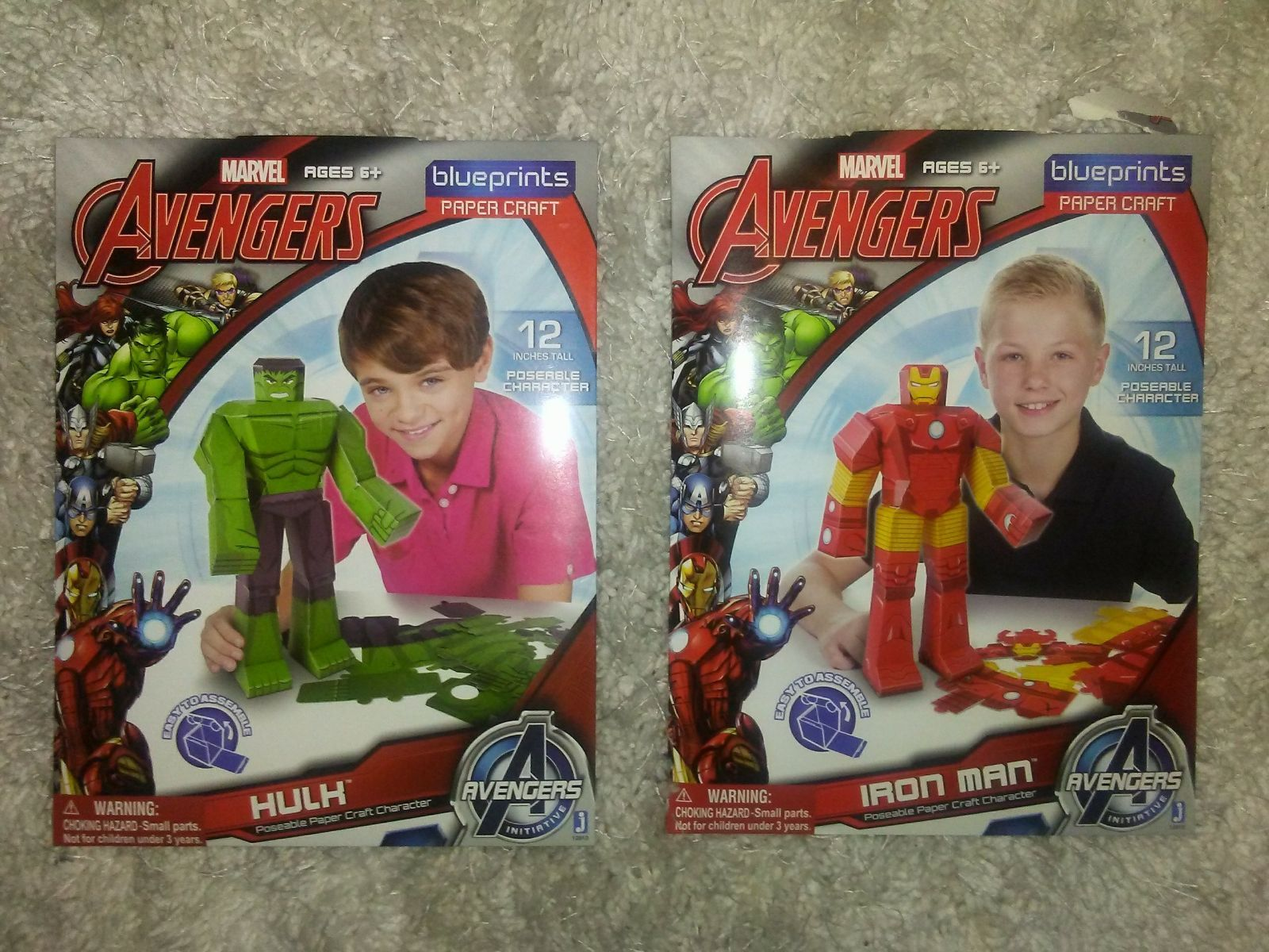 Avengers Iron Man 12-Inch Marvel Blueprints Papercraft Build Your Own