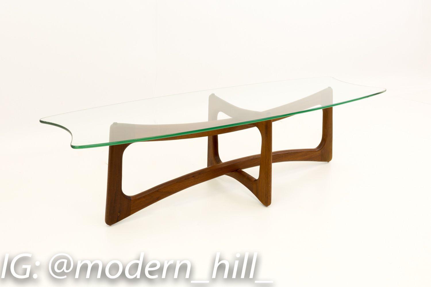 Adrian Pearsall Mid Century Modern Ribbon Coffee Table With Stingray Glass Top Modern Glass Coffee Table Pearsall Coffee Table [ 1000 x 1500 Pixel ]