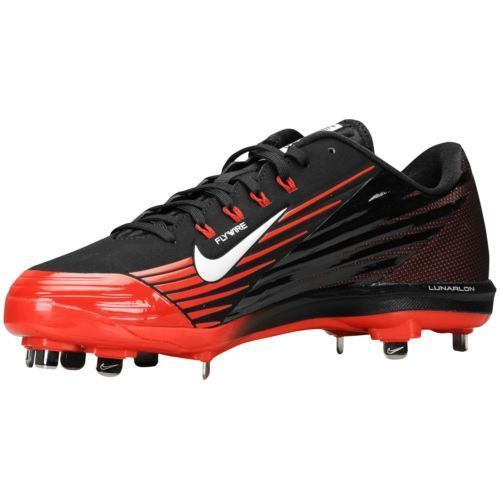 Nike Lunar Vapor Flywire Men Baseball Shoes Black Red Size 13 Metal Cleats