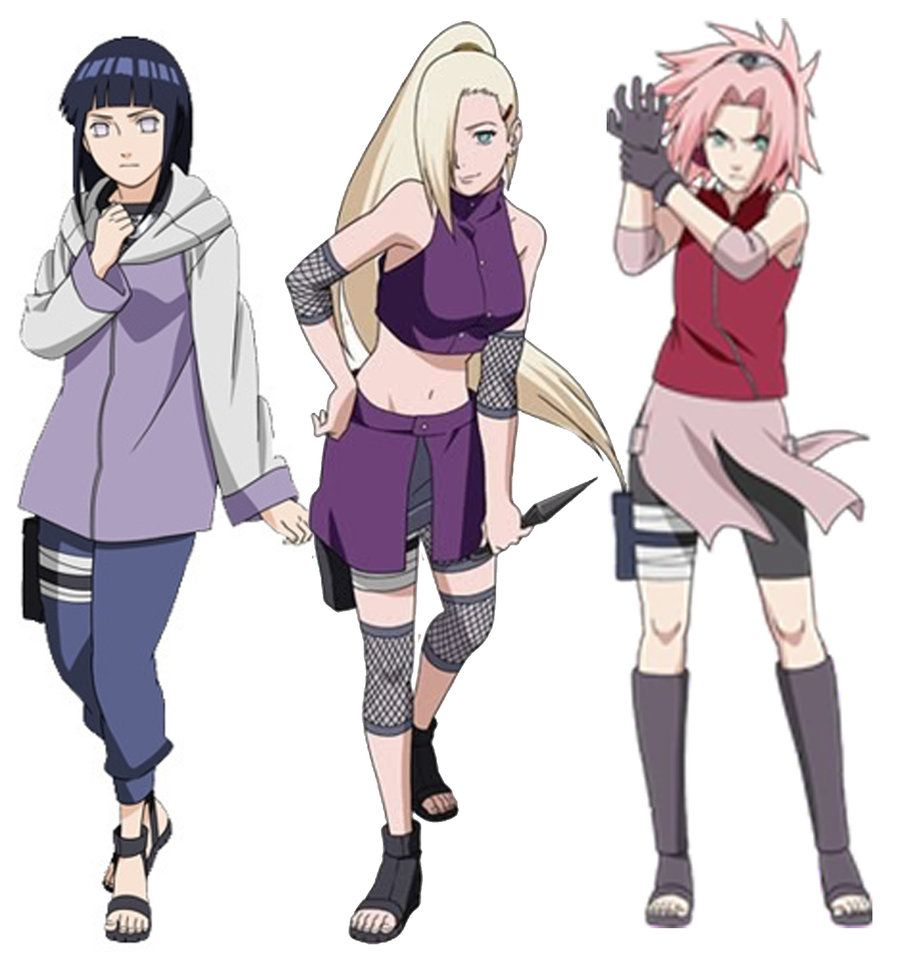 And naruto shippuden girls in black dresses facial