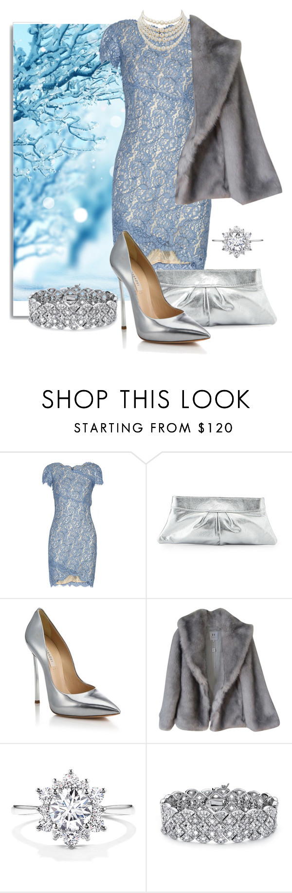 """Snow light"" by cartersplace ❤ liked on Polyvore featuring White Label, Lover, Lauren Merkin, Casadei, Halston, Palm Beach Jewelry, Christian Dior, colorchallenge, winterstyle and Christmas2015"