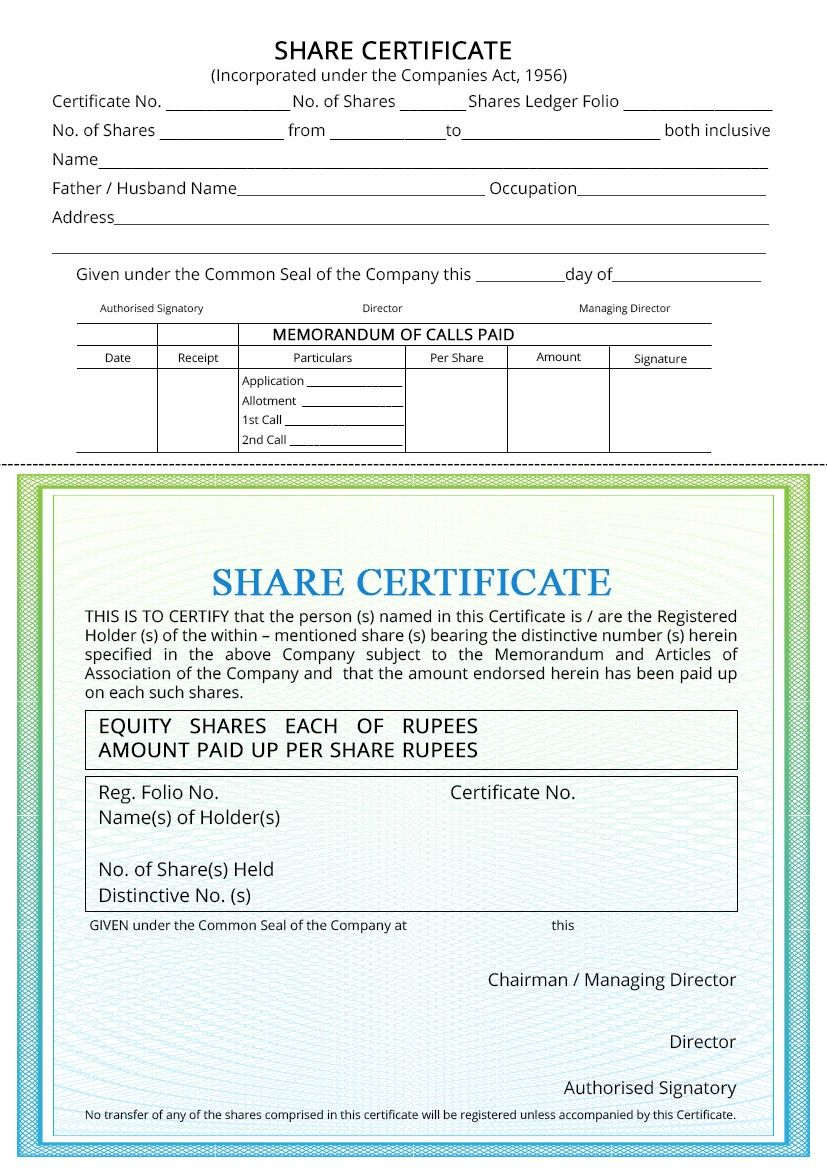 Company Share Certificate Procedure For Issuing Indiafilings Throughout Share Certificate Template Australia In 2020 With Images Certificate Templates Certificate Of Achievement Template Graduation Certificate Template