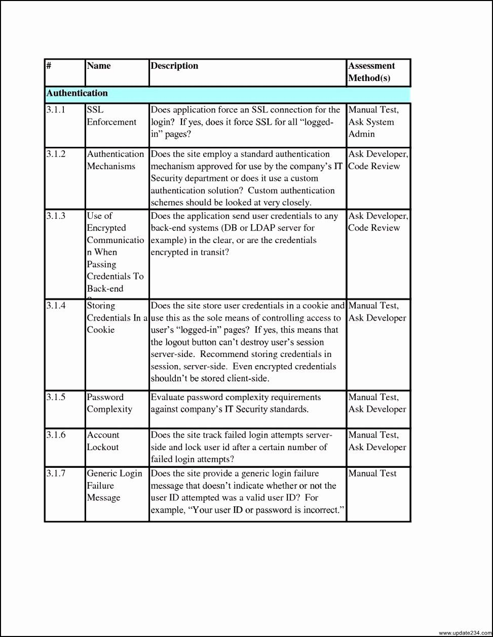 Physical Security Risk Assessment Template New Security Risk
