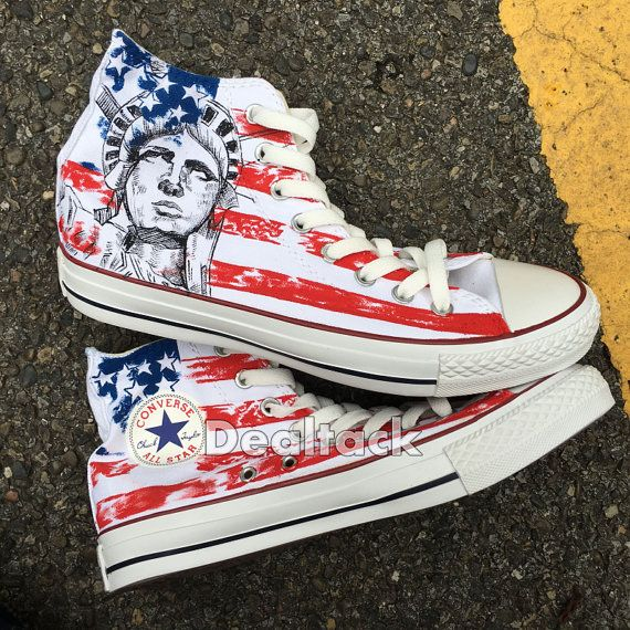 93142da9cdcd American Eagle Custom Painted Shoes