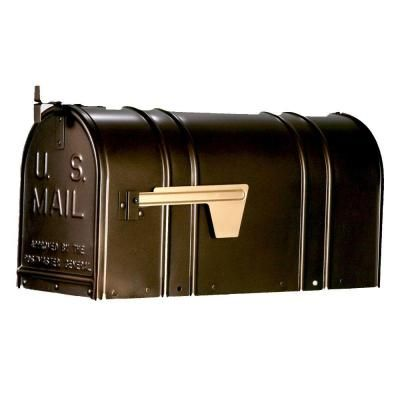 Postal Pro Carlton Post Mount T2 Mailbox In Bronze Pp150sab At The Home Depot Mounted Mailbox Post Mount Mailbox